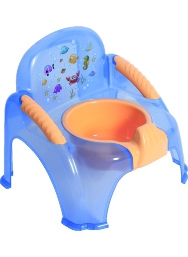Sevi Bebe Şeffaf Desenli Sandalye Lazımlık Şeffaf -Sevi Bebe